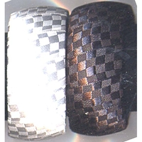 BLACK/WHITE FABRIC CHECKER BRACELETS