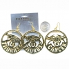ZODIAC SIGNS  EARRINGS GOLD COLOR