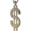 "5"" DOLLAR SIGN  NECKLACE- GOLD  LEAD COMPLIANT"