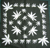 LEAF(WHITE) ON BLACK BANDANA