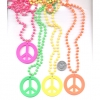 PEACE SIGN  PLASTIC BEAD NECKLACE