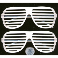 AVIATOR BLINDS, WHITE,& GLOW IN THE DARK SUNGLASSES