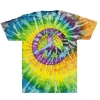 PEACE SIGN TYE DYE SHIRTS