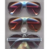 AVIATOR PLASTIC CHROME 2 LINE SUNGLASSES