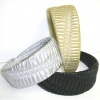 METALLIC RIBBED HEADBAND