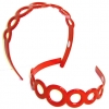 CIRCLES PLASTIC RED HEADBAND