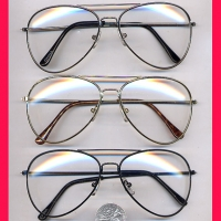 AVIATOR CLEAR LENS GLASSES
