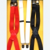 BLACK, WHITE, RED SUSPENDERS