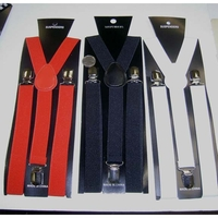 4 BLACK, 4 WHITE, 4 RED SUSPENDERS