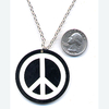 PEACE SIGN BLACK/WHITE NECKLACE