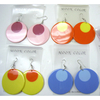 MOD ROUND SHAPE EARRING IN 2 COLORS