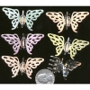 BUTTERFLY, 6 COLORS METAL HAIR CLIP