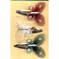 BUTTERFLY FALL COLORS MESH HAIR CLIP