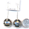 DISCO BALL SILVER EARRING ON CHAIN