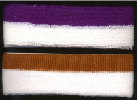 80'S TERRY CLOTH WHITE & COLOR STRIPE HEADBAND