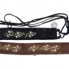 SUEDE, EMBROIDERD  FLOWERS HIPPY BELT