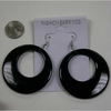 BLACK only  CLASSIC 60&#39S  BEST SELLING EARRING!