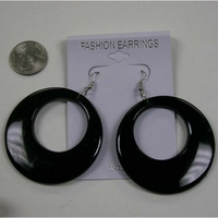 BLACK only  CLASSIC 60'S  BEST SELLING EARRING!