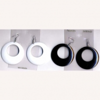 WHITE, BLACK, CLASSIC 60'S  BEST SELLING EARRING!