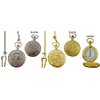 POCKET WATCHES, PLAIN, TRAIN & EAGLES, cars and CROSSES TOO