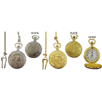 POCKET WATCHES, PLAIN, TRAIN & EAGLES, GOLD AND SILVER