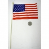 4X6 INCH FABRIC FLAG ON PLASTIC STICK