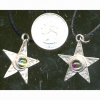 5 POINTED STAR WITH ROUND GEM ON CORD