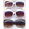 LADIES COOL COLORS RETRO SUNGLASSES WITH LINED ARMS