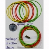 SPRING WIRE BRACELET, 12 ASST PER 1 UNIT. GREEN, ORANGE, AND YEL