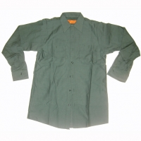 GREEN WORK SHIRTS LONG SLEEVE SIZES  S & M ONLY