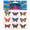 9 BUTTERFLY STICKERS PER PACK