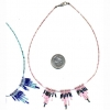 INDIAN/HIPPY SEED BEAD CHOKER NECKLACE