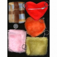 FUR BAG ZIPPER KEY CHAINS ASST STYLES, CAN PICK TOO