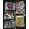 COIN CLEAR BAG ZIPPER KEYCHAIN WITH FUN PICTURES