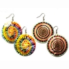 TYE DYE HIPPY SHELL BASE EARRINGS