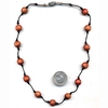 WOOD POWER BEAD CHOKER WITH CEDAR ODOR