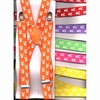 SKULL & CROSSBONES PRINT BRIGHT COLOR SUSPENDERS