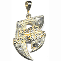 """R"" PIMP LOOK STYLE pendent   no chain"