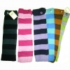 2 COLOR WIDE STRIPE LEG WARMER W/ 1 BUTTON