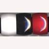 EXTRA WIDE BLACK, RED, WHITE BANGLES