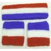 RED WHITE, & BLUE  SWEATBAND SET