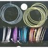 8 PIECE THIN METAL BANGLES SOME W/ GLITTER SETS