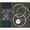 BAMBOO THIN SET OF 12 BLACK SPOTTED MULTICOLOR BANGLES