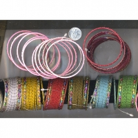 12 PIECE BANGLE SET WITH 2 WITH MULTICOLORS COLOR