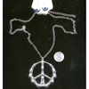 PEACE SIGN NECKLACE IN BAMBOO LOOK WITH PEACE EARRING SET IN SIL