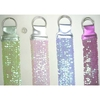 DARK PINK & GREEN ONLY SEQUINS STRETCH BELT , 2 LOOP BUCKLE
