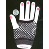 FISHNET FINGERLESS BLACK GLOVES W/ SILVER THREADS