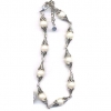 PEARL AND METAL CHOKER NECKLACE