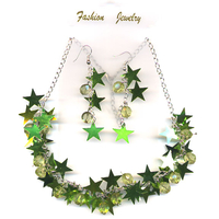 STARS NECKLACE & EARRING SET 3 STAR EARRINGS