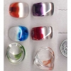 COLOR/CLEAR TOGETHER IN 2 SHAPES RING